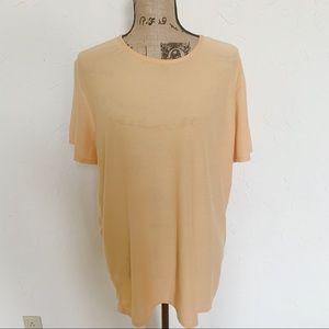 Eileen Fisher Organic Linen Orange Blouse Sz S
